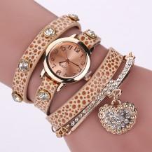 Часы-браслет длинные, наматывающиеся на руку Нюдовые 089-4
