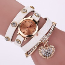 Часы-браслет длинные, наматывающиеся на руку Белые 089-5