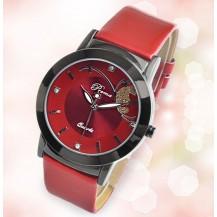 Часы женские Prema бабочка Красные 071-1