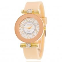 Часы женские силиконовый ремешок Нюдовые 085-1