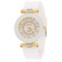 Часы женские силиконовый ремешок Белые 085-2