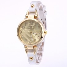 Часы женские Rinnady тонкий ремешок Белые 088-1