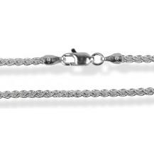 Цепочка 40см. Серебро 925 (плетение - колос)