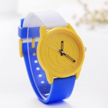 Часы наручные &Q желтый циферблат 076-1
