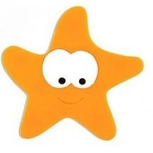 Антискользящий мини коврик для ванной. Морская звезда