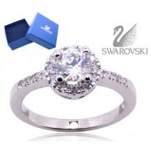 Кольцо с кристаллами Swarovski. Серебро 925 (родир.) (BS21) Размер 18
