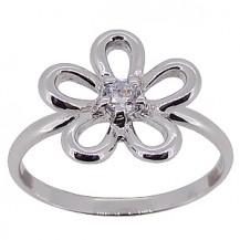 Кольцо Tiffany Inspired с кристаллом Swarovski. Серебро 925. Размер 17