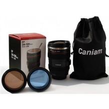 Термочашка с линзой в форме объектива Caniam (Canon) EF 24-105