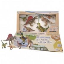 Обучающий игровой набор с QR-картой - ХИЩНЫЕ ДИНОЗАВРЫ от Wenno  - под заказ