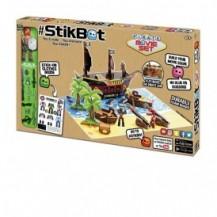 Игровой набор для анимационного творчества STIKBOT S2 – ОСТРОВ СОКРОВИЩ (1 фиг., наклейки, аксесс.) от Stikbot - под заказ