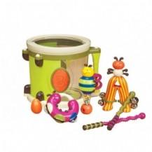 Музыкальная игрушка – ПАРАМ-ПАМ-ПАМ (7 инструментов, в барабане) от Battat - под заказ