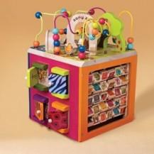 Развивающая деревянная игрушка - ЗОО-КУБ (размер 34х30х45 см) от Battat - под заказ