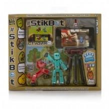 Игровой набор для анимационного творчества STIKBOT S2 PETS – СТУДИЯ (2 экскл. фигурки, штатив) от Stikbot - под заказ