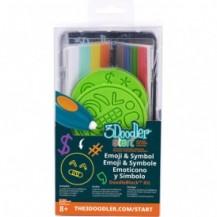 Набор аксессуаров для 3D-ручки 3Doodler Start - ЭМОДЖИ (48 стержней, 2 шаблона) от 3Doodler - под заказ
