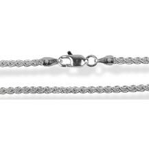 Цепочка 50см. Серебро 925 (плетение круглое - колос) Ширина 1,5мм