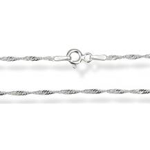 Цепочка 50см. Серебро 925 (плетение - сингапур) Ширина 1,5мм