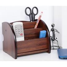 Деревянная подставка-органайзер