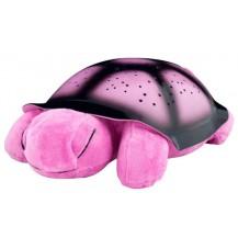 Проектор звездного неба, ночник Музыкальная Черепаха (розовая)