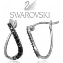 Серьги TN828 Swarovski. Серебро 925 (родиров)
