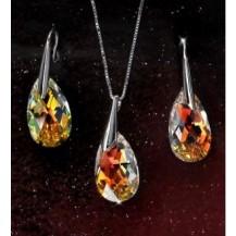 Серебряный набор с кристаллами Swarovski (SF16)