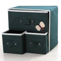 Ораганайзер для белья и одежды Комодик 3 ящика Зеленый