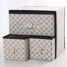 Органайзер для белья и одежды Комодик 3 ящика Бежевый