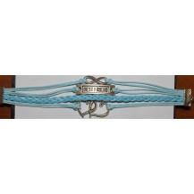 Браслет 4в1 голубой Infinity (tb910)