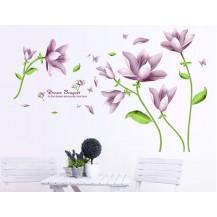 Интерьерная наклейка на стену Лиловые цветы XL7127