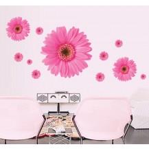 Интерьерная наклейка на стену Герберы Розовые AY6015B