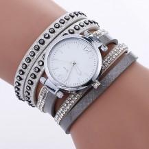 Часы-браслет длинные, наматывающиеся на руку Серые 112-1