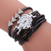 Часы-браслет длинные, наматывающиеся на руку Черные 094-1