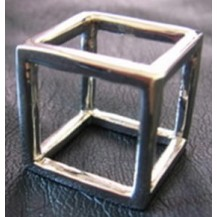 Кольцо Куб (tb358) цвет - бронза Размер 17