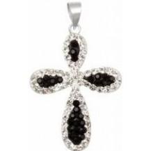 Кулон TN652. Серебро 925. Swarovski Crystals