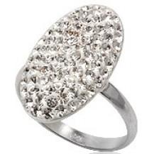 Кольцо TN752. Серебро 925. Swarovski crystals, размер 18