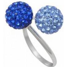 Кольцо TN760. Серебро 925. Swarovski crystals, размер 17