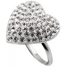 Кольцо TN766. Серебро 925. Swarovski crystals, размер 18