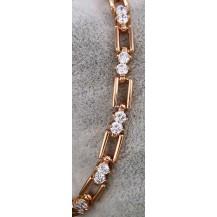 Браслет покрытие золотом с бриллиантовыми цирконами GF873