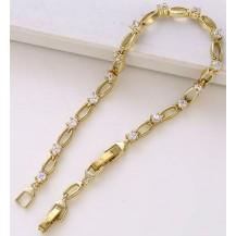 Браслет покрытие золотом  цирконы GF914