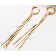 Серьги позолоченные длинные gold filled GF1031