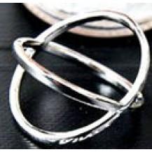 Кольцо серебристое tb1113