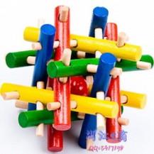 Деревянная головоломка Гнездо (цветная)