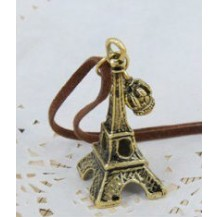Подвеска Эйфелева башня на шнурке бронзовая tb1001