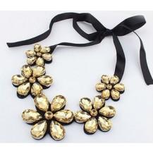 Ожерелье колье цветы Шампань tb1181