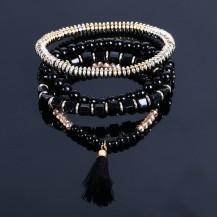 Набор браслетов черный (tb1299)