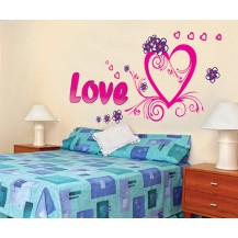 Интерьерная наклейка на стену Любовь (AY9074)