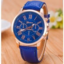 Часы Женева Geneva Римские цифры синие