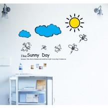 Детская Интерьерная наклейка Солнышко (AY609)