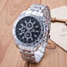Мужские часы Orlando черный циферблат серебристые mw2-02