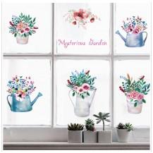 Интерьерная наклейка на стену Цветы Прованс SK7087