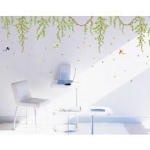 Интерьерная наклейка на стену Лианы с цветами AY9085
